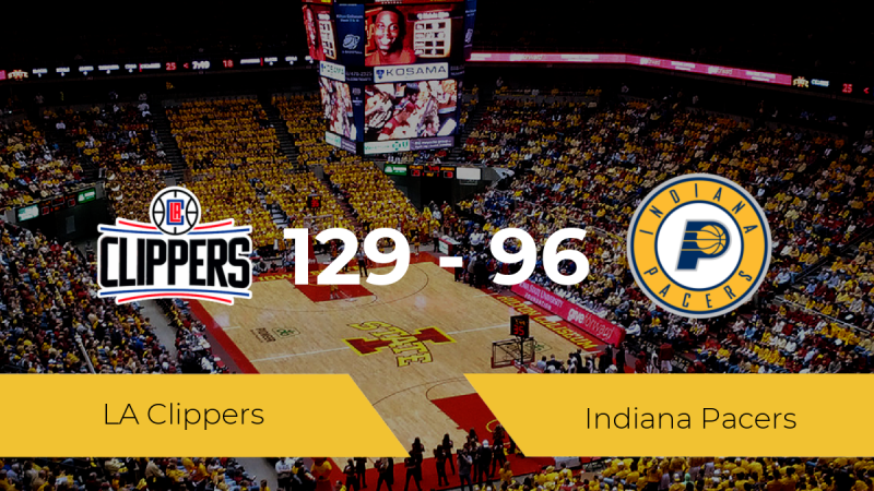 LA Clippers derrota a Indiana Pacers (129-96)