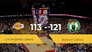 Boston Celtics se hace con la victoria contra Los Angeles Lakers por 113-121